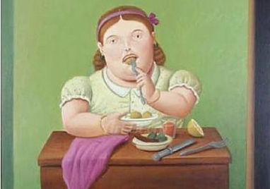 Woman-Eating_Fernando-Botero